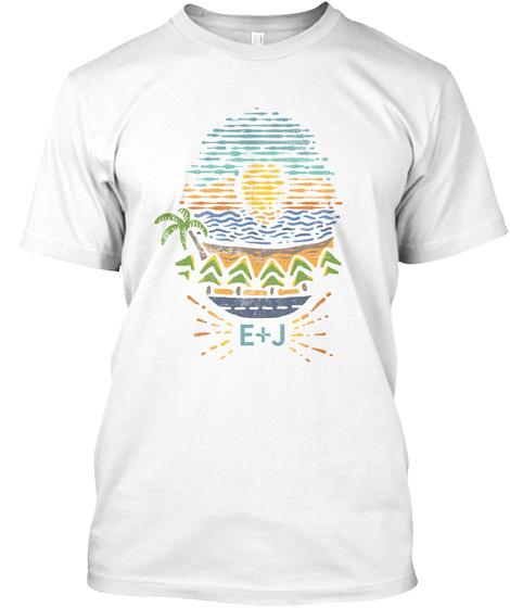 E+J White T-Shirt Front