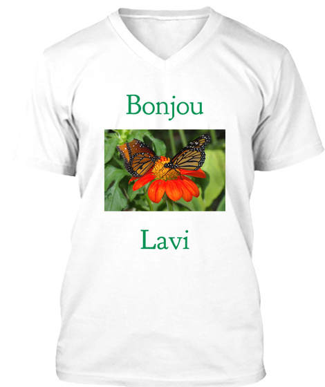Bonjou Lavi White T-Shirt Front