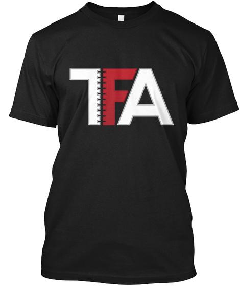 7 Fa Black T-Shirt Front