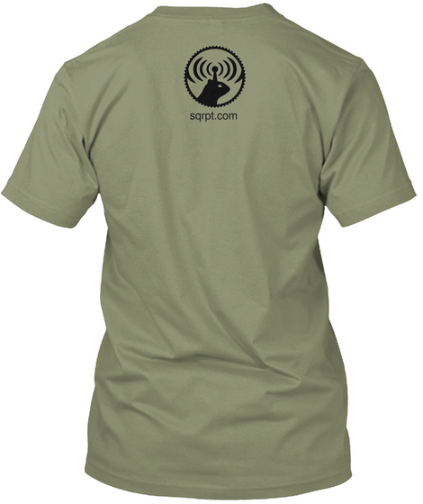 Sqrpt.Com Light Olive T-Shirt Back