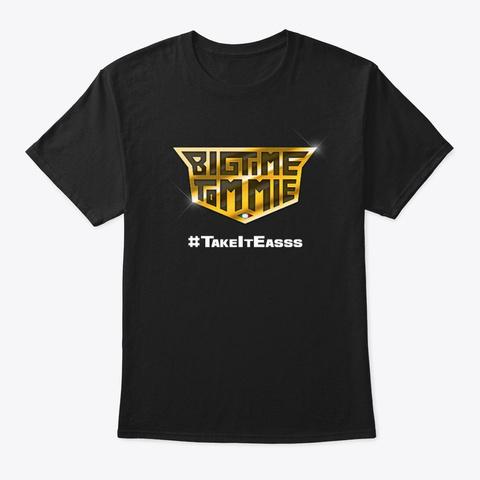 Bigtime Tommie Gold Emblem Apparel Black Black T-Shirt Front