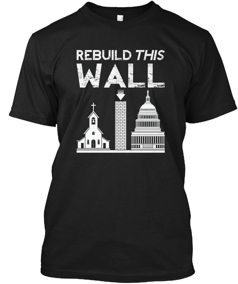Rebuild Wall Black Camiseta Front