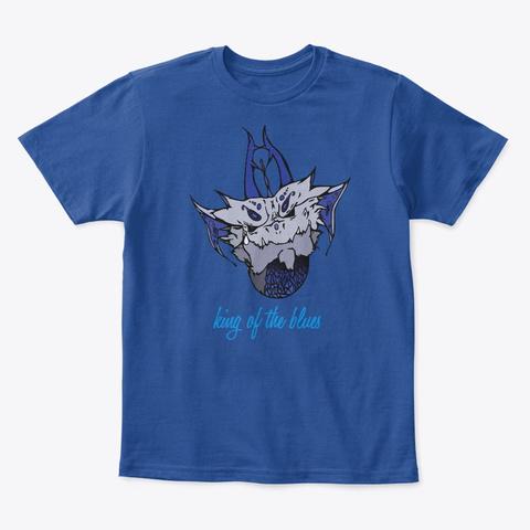 King Of The Blues Deep Royal  T-Shirt Front
