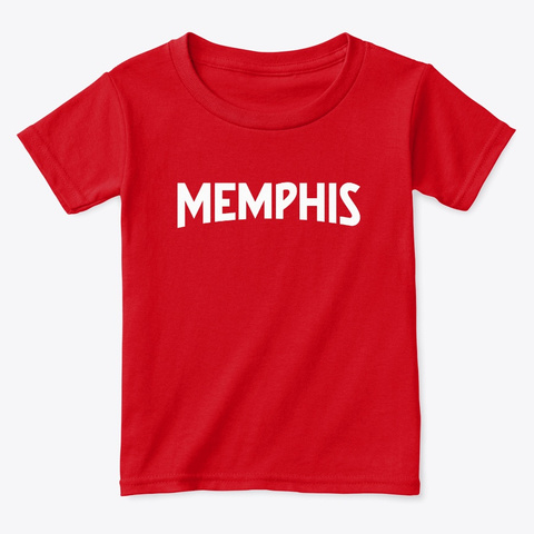 Memphis Tee Red  T-Shirt Front