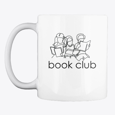 Book Club Friends (Light) White T-Shirt Front
