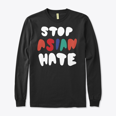 Damian Stop Asian Hate T Shirt Black T-Shirt Front