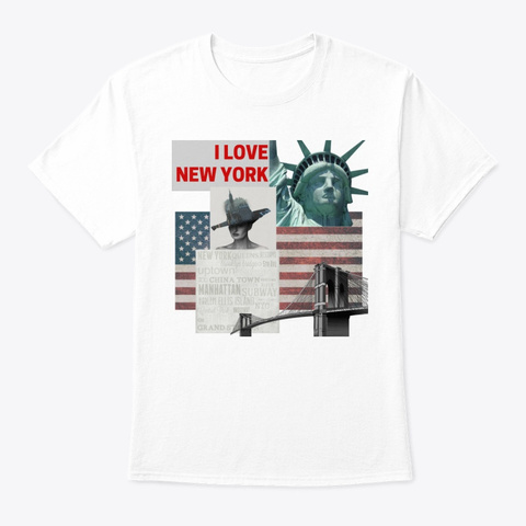 I Love New York White T-Shirt Front
