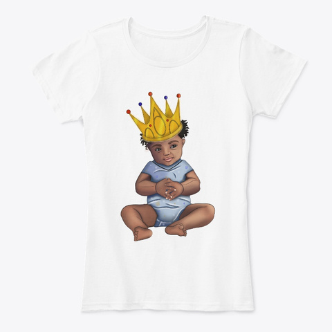 African Generation Born To Be A King White T-Shirt Front