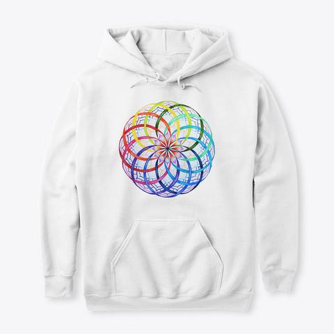 Rainbow Flower Of Li Fe White T-Shirt Front