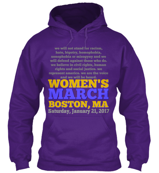 Women's March Boston   Jan 21 '17 Sweatshirt Front