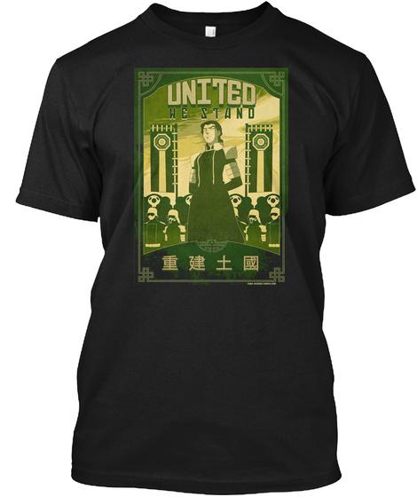 Great Uniter Propoganda Poster Black T-Shirt Front