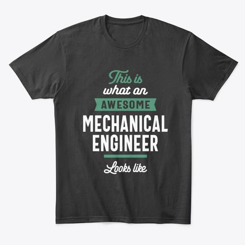 Mechanical Engineer Job Title Gift Black T-Shirt Front