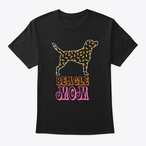 Beagle Mom Pineapple Lover T Shirt  Black T-Shirt Front