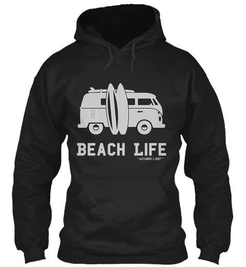 Beach Life * Alexander & Kent * Black T-Shirt Front