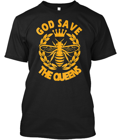 Christmas Shirts   God Save The Queen Gi Black T-Shirt Front