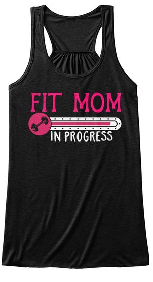 Fit Mom In Progress Black Women's Tank Top Front