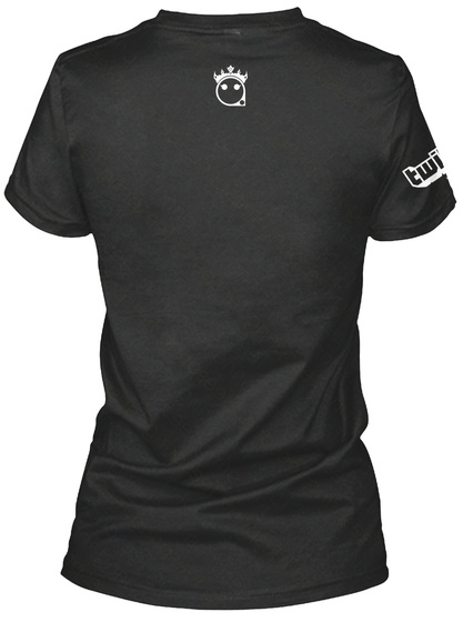 Team Queen E Black T-Shirt Back