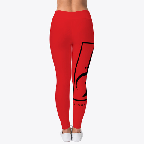 We Are Bermuda Leggings Red T-Shirt Back