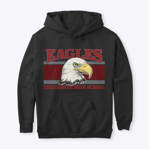 Eagles Vintage  Black T-Shirt Front