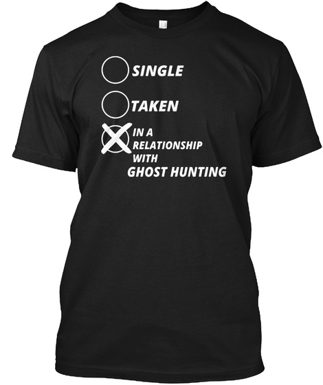 Ghost Hunting Paranormal Investigator Black T-Shirt Front