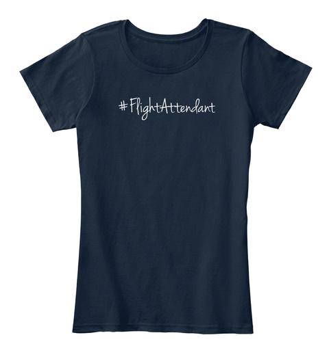 #Flightattendant New Navy T-Shirt Front