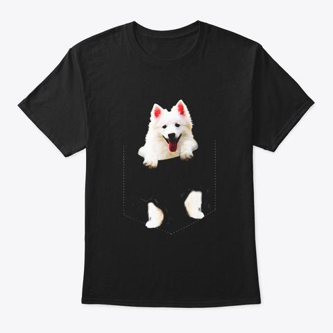 American Eskimo Pocket Mid T Shirt Black T-Shirt Front