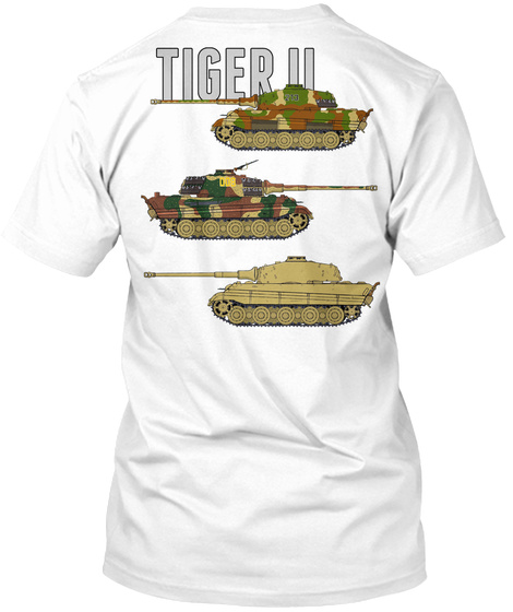 Tiger Ii White T-Shirt Back