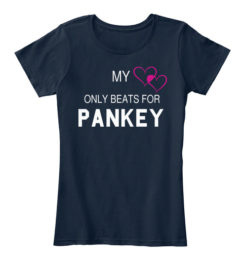 My Only Beats For Pankey New Navy Women's T-Shirt Front