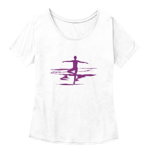 Yoga Tree Pose T Shirt White  T-Shirt Front