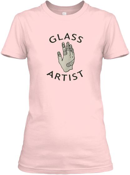 Meris ~ Glass Art Light Pink T-Shirt Front