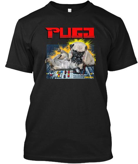 Pugg Black Maglietta Front