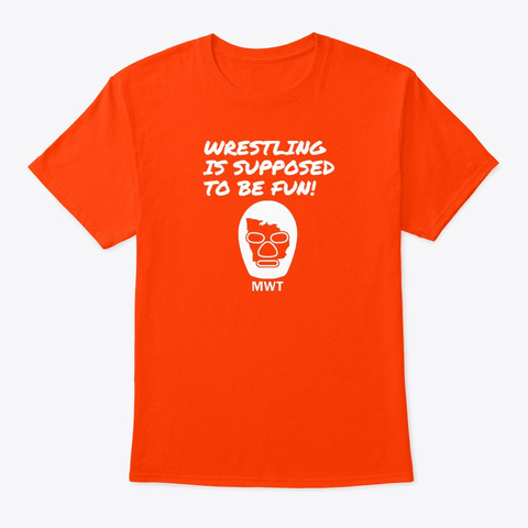 Mid West Territory Orange T-Shirt Front