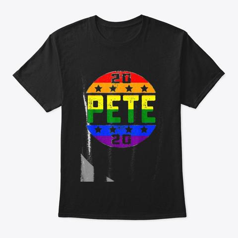 Pete Buttigieg President 2020 Campaign T Black T-Shirt Front