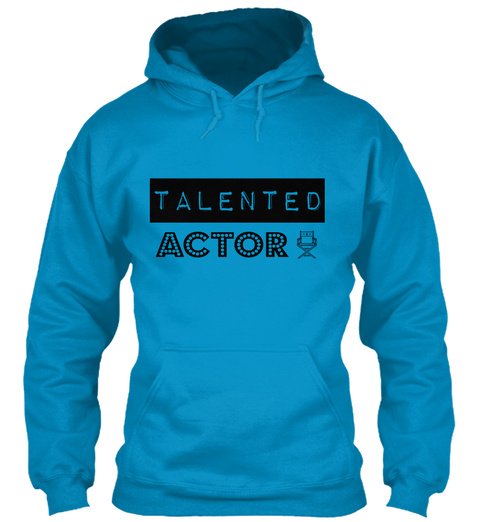 Talented Actor Sapphire Blue T-Shirt Front