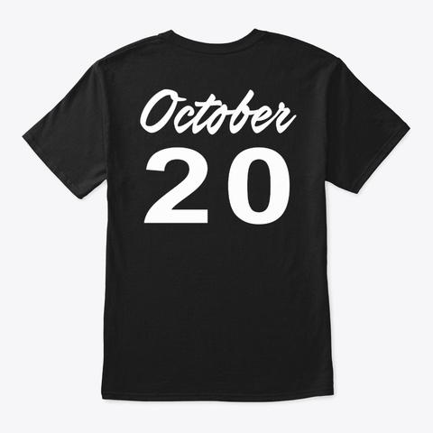October 20   Libra Black T-Shirt Back