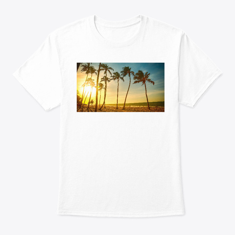 Palm T Shirt White T-Shirt Front