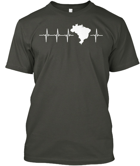 Brazil Holiday Gift Smoke Gray T-Shirt Front