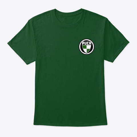 Bold Classic Puch Logo Front/Back Deep Forest T-Shirt Front