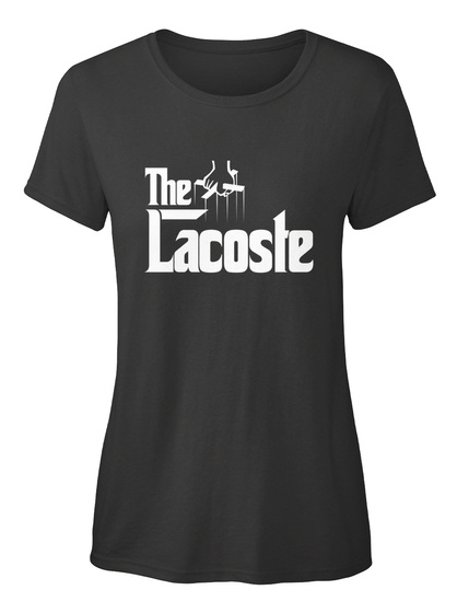 Lacoste The Family Tee Black T-Shirt Front