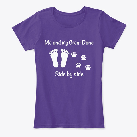 Me And My Great Dane Purple T-Shirt Front