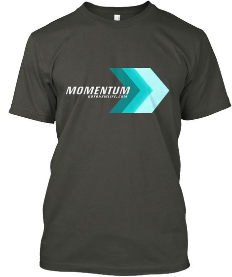 Momentum Gotonewlife.Com Smoke Gray T-Shirt Front