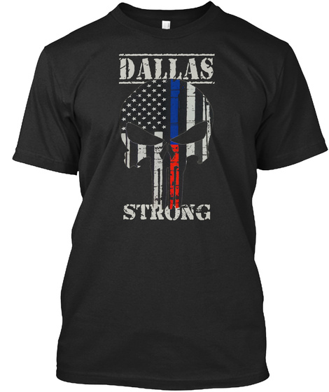 Dallas Strong Black T-Shirt Front