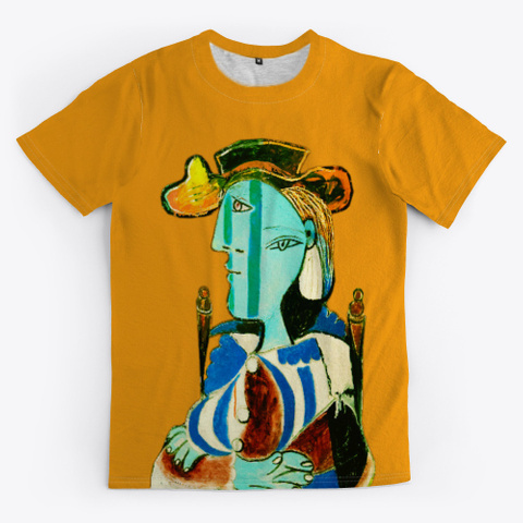 "Picasso ""Woman Sitting In An Armchair"" Orange T-Shirt Front"