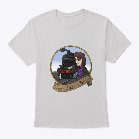 Steam Locos In Profile   Lms Black 5 Light Steel T-Shirt Front