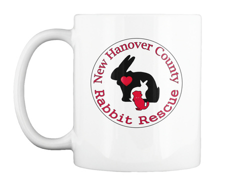 New Hanover County Rabbit Rescue White T-Shirt Front