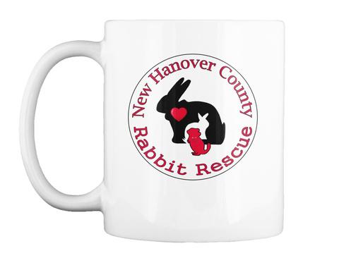 New Hanover County Rabbit Rescue White Mug Front