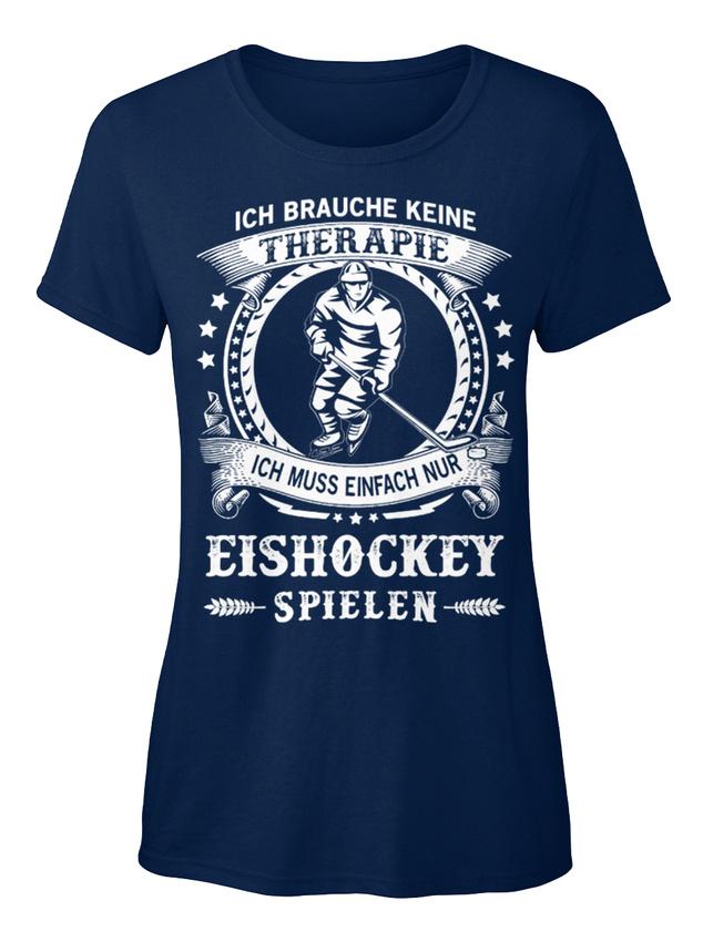 Latest-Ich-Muss-Nur-Eishockey-Spielen-T-shirt-Elegant-T-shirt-Elegant-pour-Femme