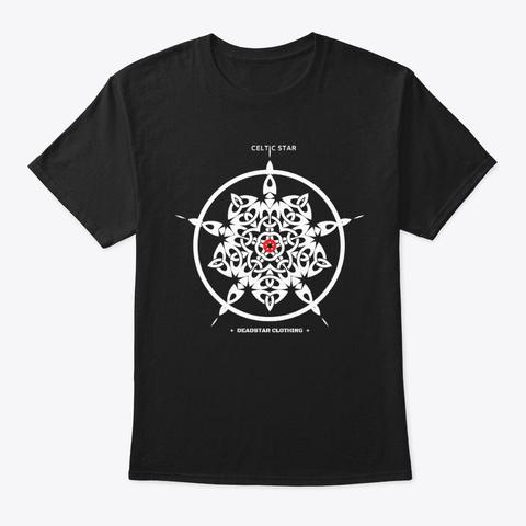 Celtic Star 2 Black T-Shirt Front