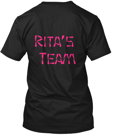 Rita's  Team Black T-Shirt Back