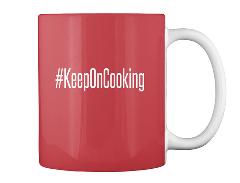 Keeponcooking Bright Red T-Shirt Back